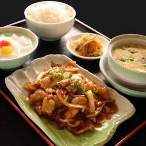 豚肉の生姜焼き定食 980円