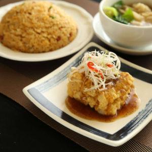 揚げ赤魚付き炒飯セット 1,200円